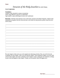 Invasion of the Body Snatchers Chapter Worksheets