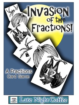 Invasion of the Fractions!-A Halloween Fractions Card Game