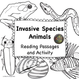 Invasive Animal Species:  NGSS: MS-LS2-4 and MS-LS2-5 in Black and White