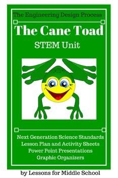 Engineering Design Process - Invasive Species - Cane Toad Lesson