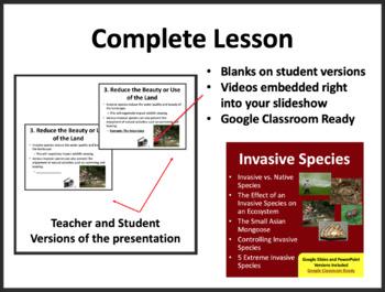 Invasive Species - Complete 5E Lesson Bundle