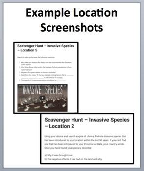 Invasive Species - Device-Based Scavenger Hunt Activity - Let the Hunt begin!