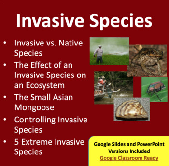 Invasive Species - Google Slides and PowerPoint Lesson