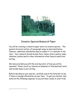 Invasive Species Ecosystems Research Essay