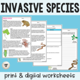 Invasive Species - Guided Practice - PDF & Digital Versions