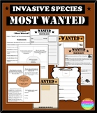 "Invasive Species ""Most Wanted"" Activity EDITABLE PPT and Templates"