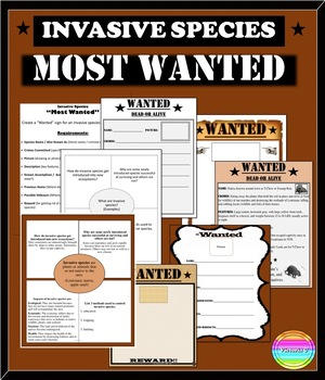 """Invasive Species """"Most Wanted"""" Activity EDITABLE PPT and Templates"""