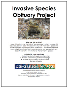 Invasive Species Obituary Project