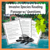 Invasive Species Reading Passage W/ Standard Based Questions