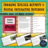 Distance Learning Science Invasive Species Reading and Questions NGSS MS-LS2-4