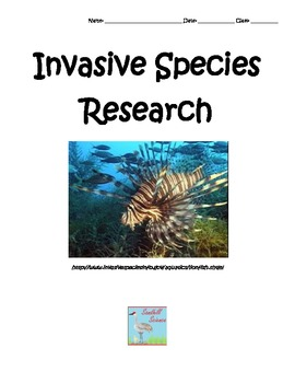 Invasive Species Research Assignment- Biology Printable Worksheet
