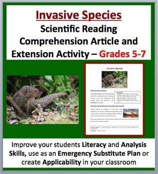 Invasive Species -  Scientific Reading Comprehension Article – Grades 5-7