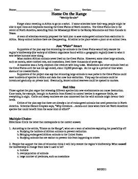Invasive Species Test -  Read 180 Stage B (workshop 7)