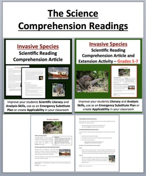 Invasive Species Unit Package - Lesson, Lab Station Activity and Readings