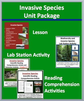 Invasive Species Unit Package - Lesson, Lab Station Activi