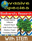 Invasive Species and Biodiversity Webquest Research Project with STEM