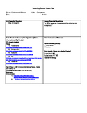 Invasive species lesson plan and work sheets
