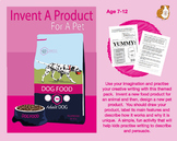 Invent A Product For A Pet (7-11 years)
