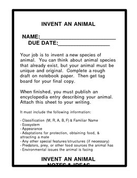 Invent An Animal