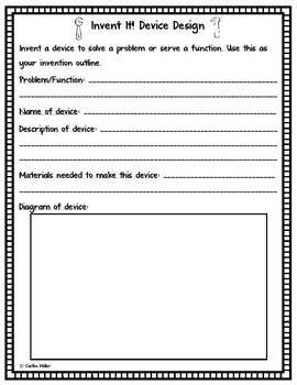 Invent It! A Creative Thinking Activity