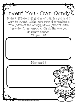 Invent Your Own Candy Writing (Narrative, Explanatory, Opinion)