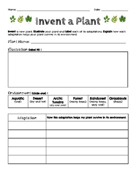 Invent a Plant Project