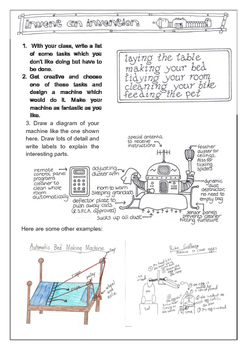 Invent an Invention- Creative writing
