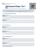 Invent an alien: learning about the solar system & systems of the body