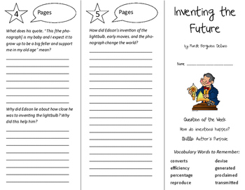 Inventing the Future Trifold - Reading Street 6th Grade Unit 4 Week 5