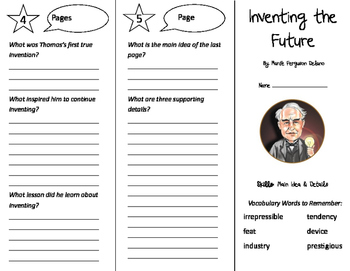 Inventing the Future Trifold - Storytown 5th Grade Unit 4 Week 4