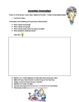 Invention Innovation  STEM Based Activities