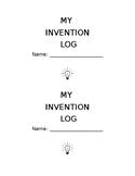 Invention Log STEAM Center Templates