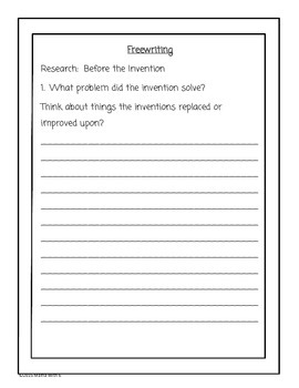 Invention Research Report Packet