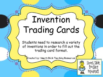 Invention Trading Cards ~ Great Way to Practice Research Skills!