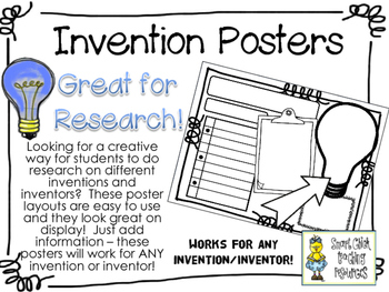 Inventions and Inventors Poster Set ~ Works with ANY Inven