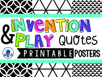 Invention and Play Quotes - Printable Posters