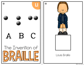 Invention of Braille Adapted Books { Level 1 and Level 2 } Louis Braille