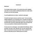 Invention project including a writing component