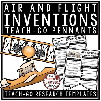 Inventions Research Project [ Air & Flight Research Templates] • Teach- Go Penna