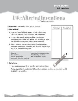 Inventions (Ten-Minute Activities)