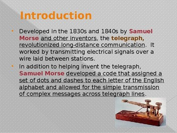 Inventions - The Telegraph