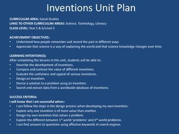 Inventions Unit