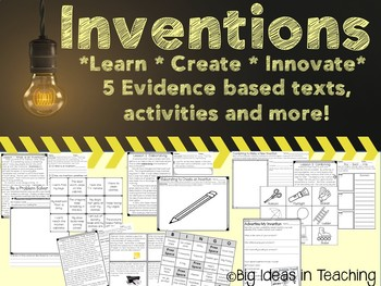 Inventions Unit: Text Based Passages, Activities, and Project