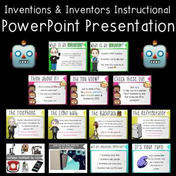 Inventors and Inventions PowerPoint and Activities