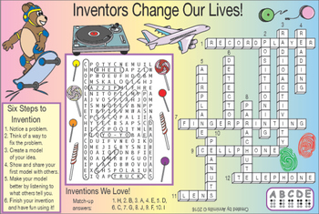 Inventions and Inventors Two-Page Activity Set