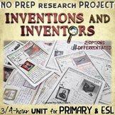 Inventions and inventors NO PREP research project - 3 to 4