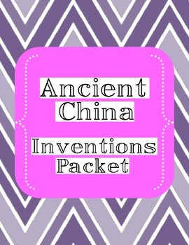 Inventions from Ancient China Package