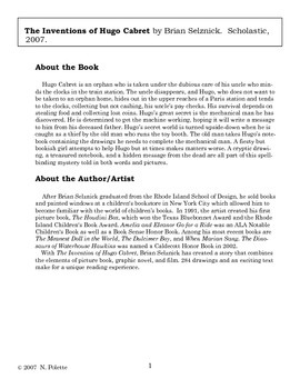 Inventions of Hugo Cabret Literature Guide