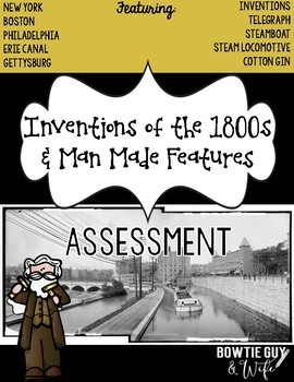 Inventions of the 1800s Assessment Pack (Telegraph, Steamboat, Steam Locomotive)