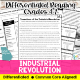 Inventions of Industrial Revolution Reading & Writing Activity (SS4E1, SS4E1f)